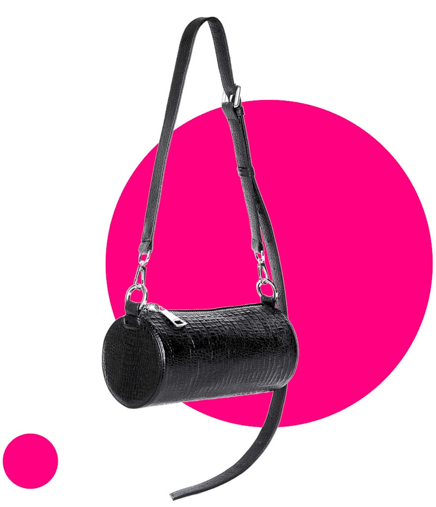 Collection Why not - Crossbody Barrel Bag Black