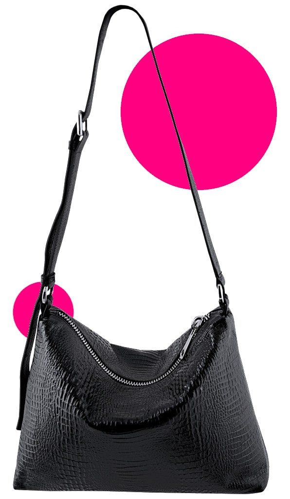 Collection Why not - Crossbody Messenger Bag Black