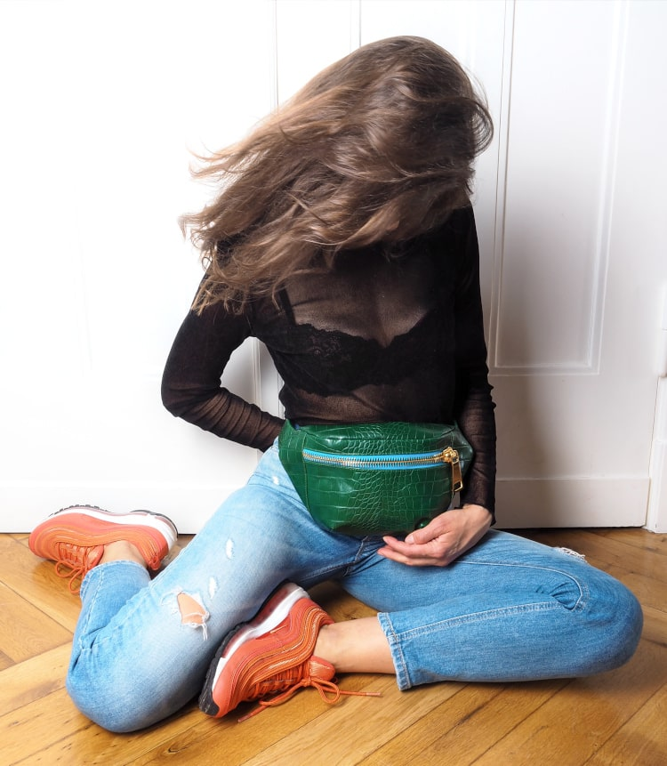 Collection KROKO Belt Bag Green