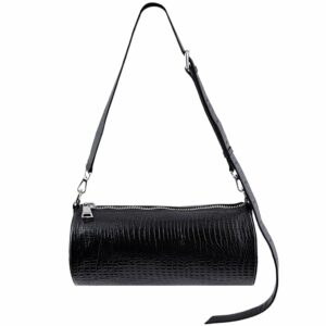 Crossbody Barrel Bag Black by MOLTO