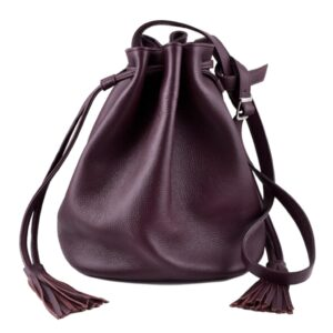 DECAGON MINI Bordeaux Bucket bag by MOLTO