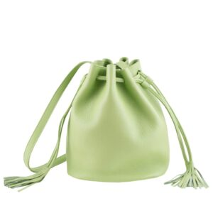 DECAGON MINI Green Bucket bag by MOLTO