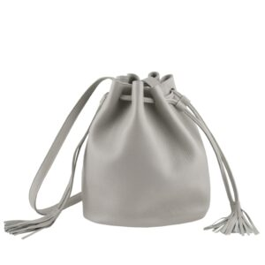 DECAGON MINI Grey Bucket bag by MOLTO