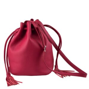 DECAGON MINI Red Bucket bag by MOLTO