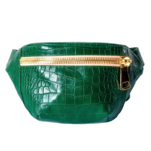 Kroko Beige Green Belt Bag by MOLTO