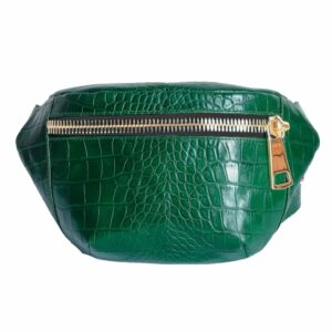 Kroko Black Green Belt Bag by MOLTO