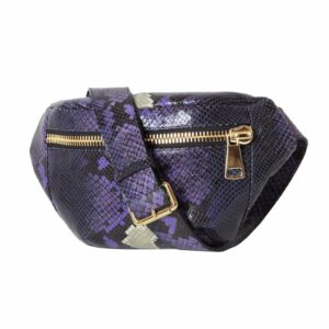 Pytho Gold Violet Belt Bag Fanny pack by MOLTO