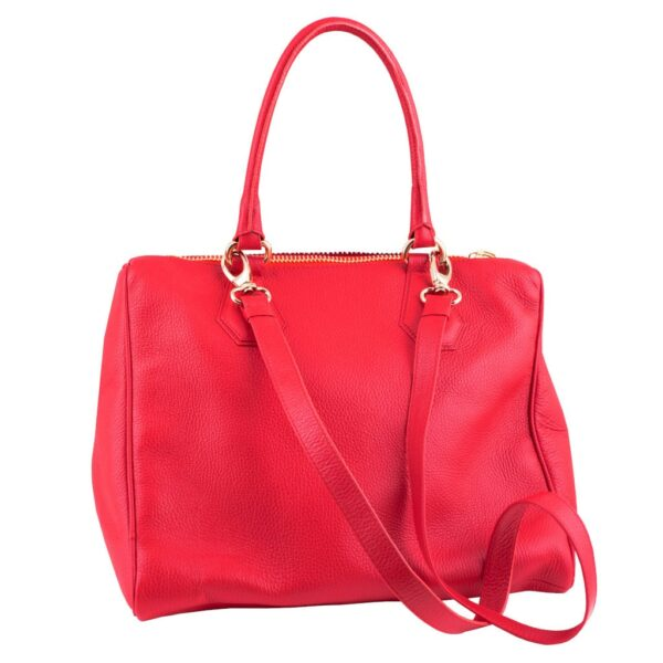 TRIAD Red Shoulder Bag with long strape by MOLTO